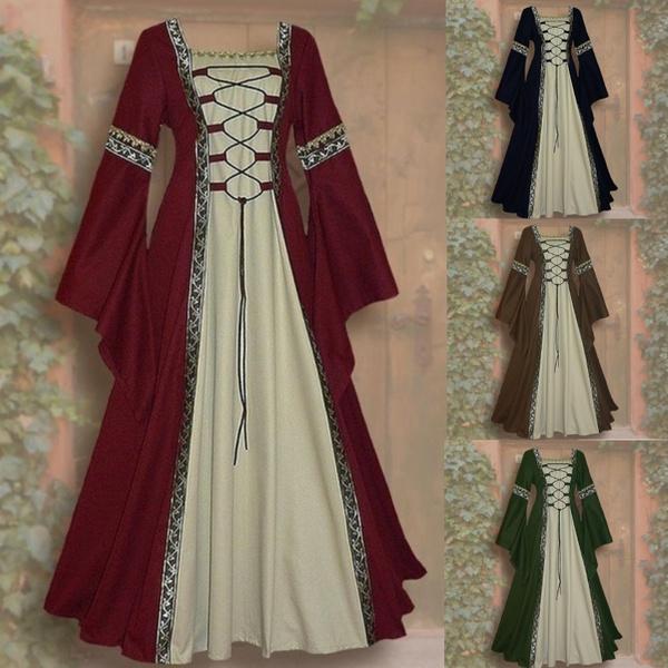 GOTHIC DRESS, Fashion, long sleeve dress, Long Sleeve