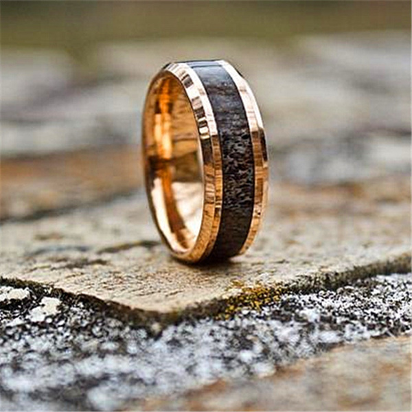 Steel, 8MM, tungstenring, Gifts For Men