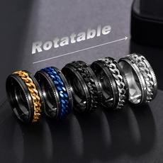 Steel, men_rings, Fashion, titaniumsteelringsformen