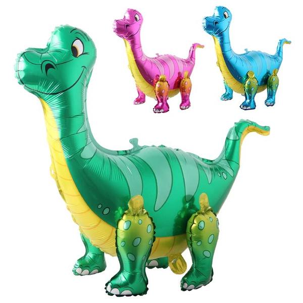 Toy, dinosaurtoy, birthdayballoon, Dinosaur