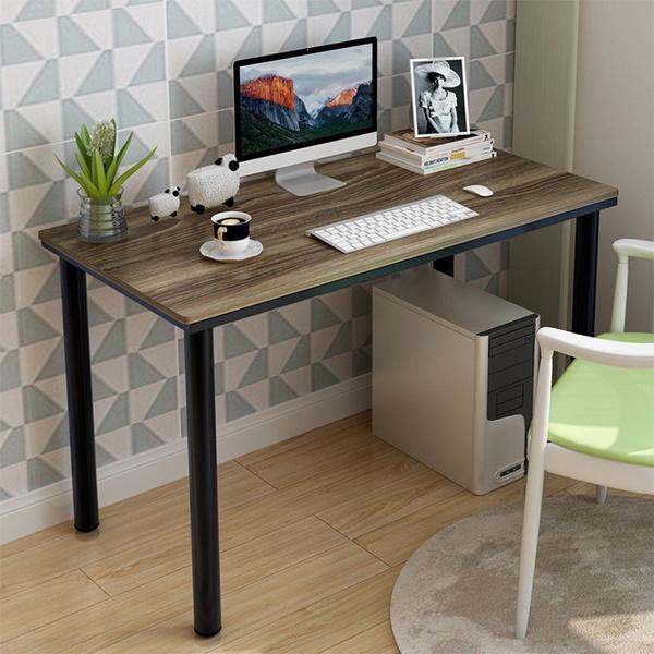 Household Steel Wood Computer Desk Pc Laptop Study Table Office Desk Workstation 120x60x72 Cm Wish