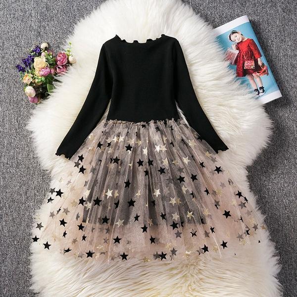 gowns, girls dress, Long Sleeve, girlslongsleevedre