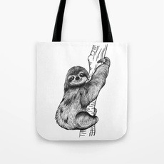 slothloverbag, Canvas, Totes, slothgift