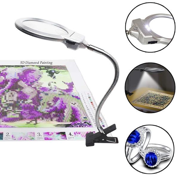 magnifyingglas, DIAMOND, led, cliponhosemagnifier