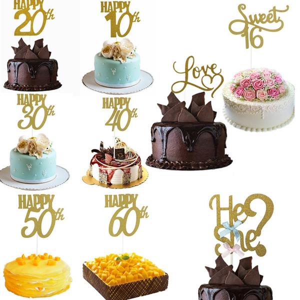 happy30th, birthdaycaketopper, happy50th, Jewelry