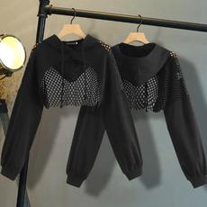 crop hoodie, Fashion, Sleeve, Long Sleeve
