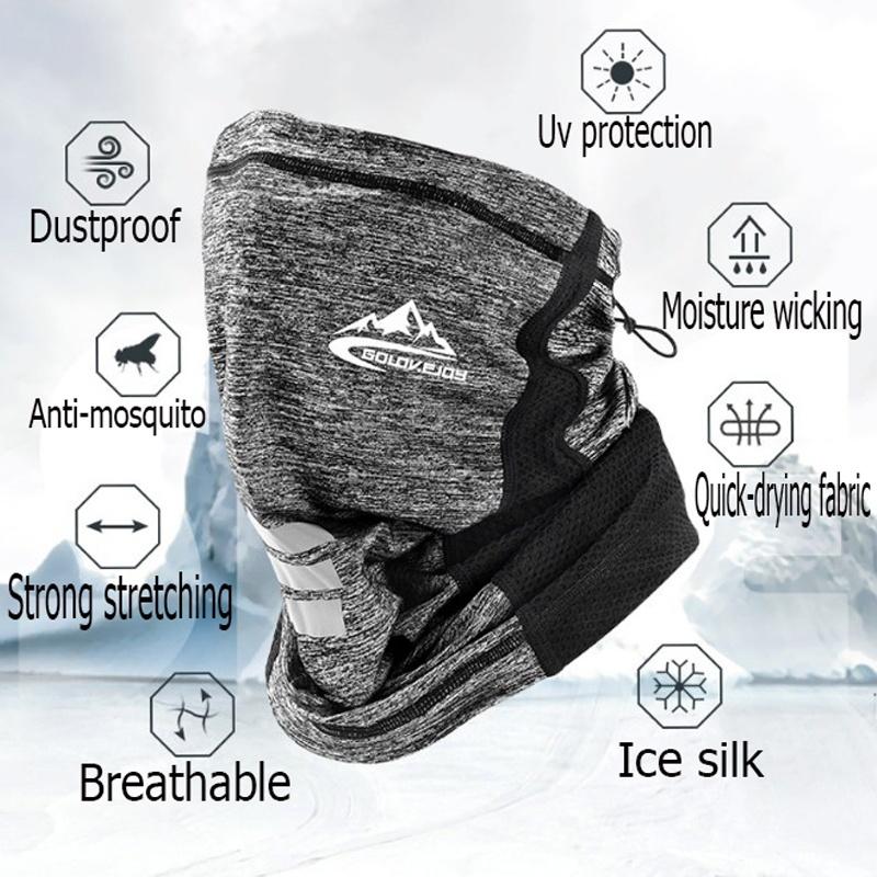 MONIKI 5PCS Ice Silk Breathable Neck Scarf Multifunctional Outdoors Balaclava Headwear for Cycling Hiking Climbing