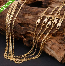 Sterling, clavicle  chain, Chain Necklace, 18kgoldnecklace