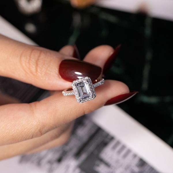 platinum, Sterling, Silver Jewelry, DIAMOND
