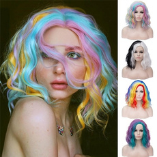 wig, rainbow, Shorts, Colorful