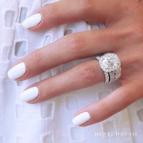 Sterling, White Gold, Engagement Wedding Ring Set, wedding ring