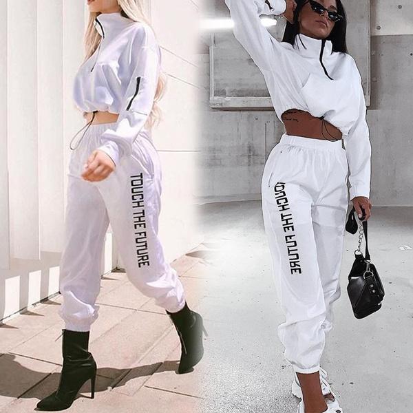Fashion, letter print, pants, Long Sleeve