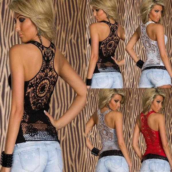 Women Vest, Plus Size, tunic, Lace