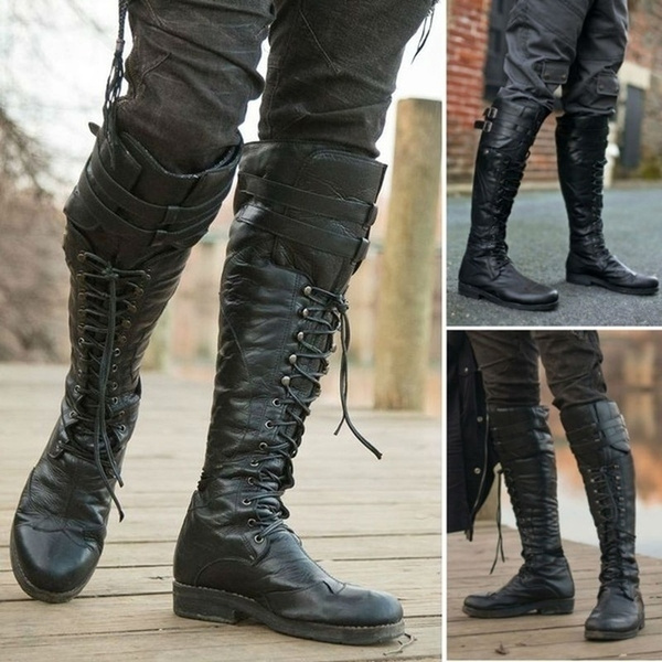 Winter Leather Tall Boots