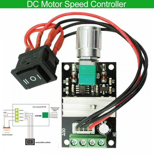 speedcontroller, Adjustable, reverseswitch, dc6v12v24v3amotorspeedcontroller