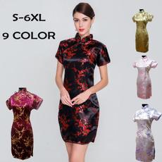 Collar, high waist skirt, Chinese, Vintage