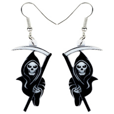 halloweenearring, Fashion, deathreapergift, earringsdangle