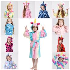 childrenspajama, unicornpajama, toddlerbathrobe, Fleece Hoodie