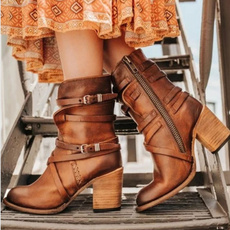 midcalfboot, Leather Boots, leather, Motorcycle