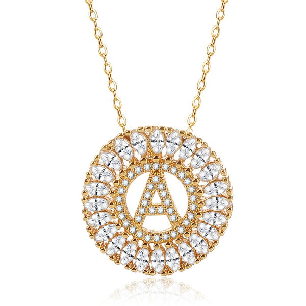 Cubic Zirconia, DIAMOND, gold, Yellow