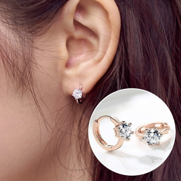 Sterling, Hoop Earring, Jewelry, rose gold earrings