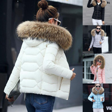 Cotton, Plus Size, fur, Winter