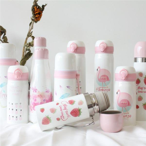 pink, waterbottlesaccessorie, insulatedteacup, flamingo