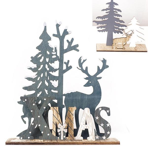 Wood, Decor, Christmas, Festival