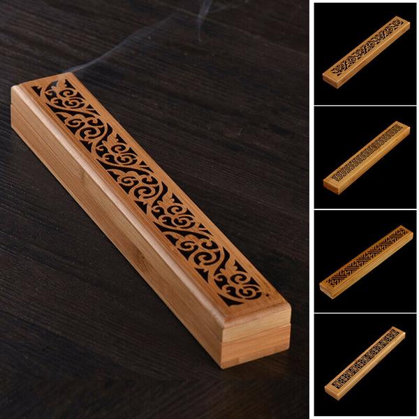 Box, desktopornament, Home Decor, bambooincensebox