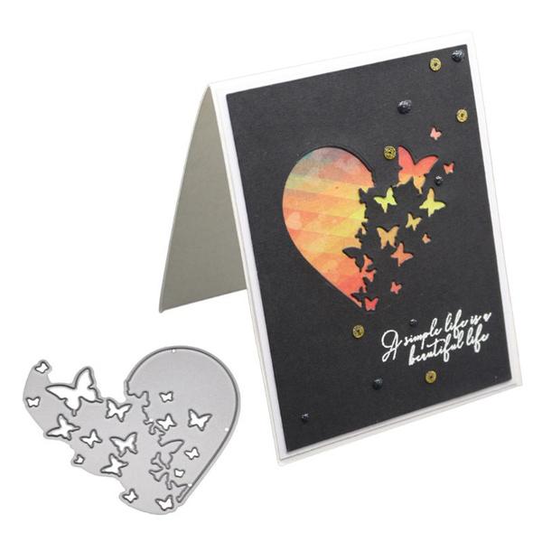 butterfly, Heart, Decor, Scrapbooking