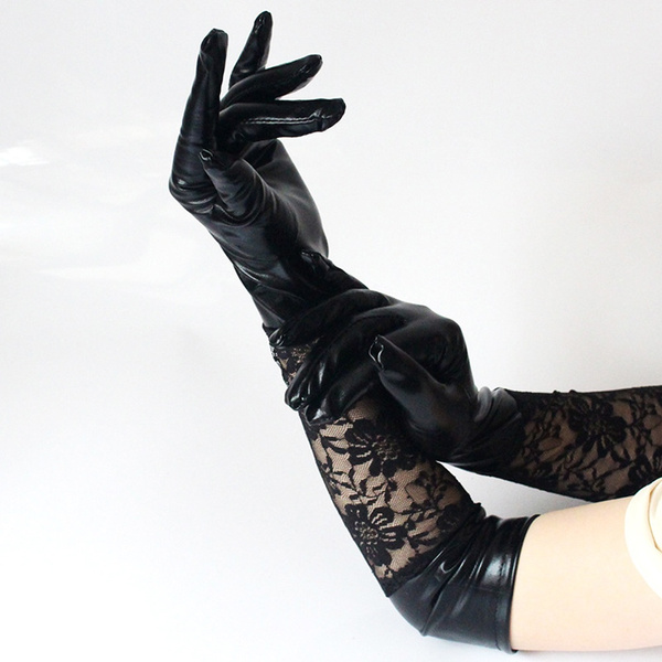 Goth, womenlacemitten, Lace, leather