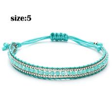 turquoisebracelet, rope bracelet, Jewelry, Colorful
