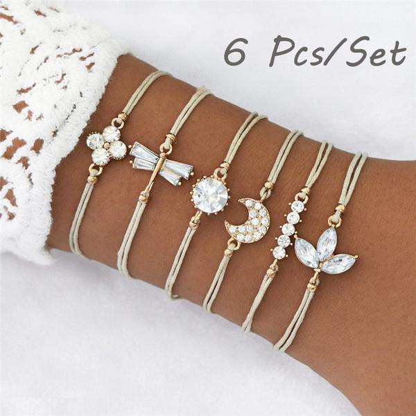 Charm Bracelet, dragon fly, Crystal Bracelet, hand made bracelets