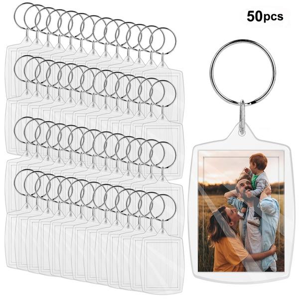 Photo Frame, transparentacrylicblankphotokeyring, Key Chain, photoinsertkeychain