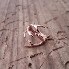 Sterling, autumnring, Rose Gold Ring, gold