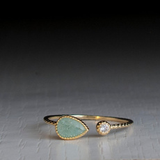 Sterling, Turquoise, DIAMOND, gold