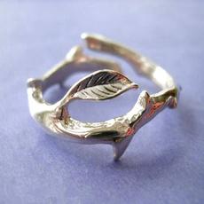 Sterling, adjustablering, branchring, Jewelry