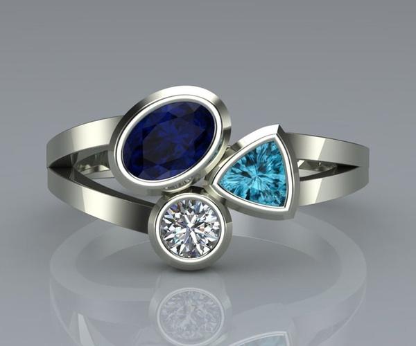 Sterling, DIAMOND, wedding ring, silverringsforwomen