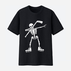 Hip-hop Style, Funny T Shirt, Cotton, dabbingskeletonshirt