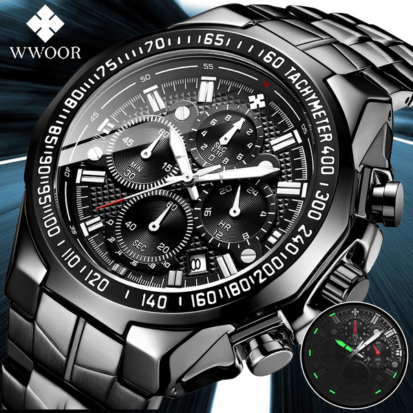 quartz, Watch, Stainless Steel, Luminous