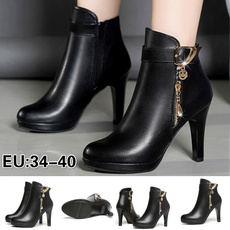 Winter, Womens Shoes, leather, High Heel