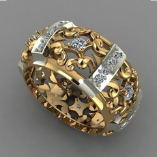 yellow gold, hollowdouble8ring, wedding ring, gold