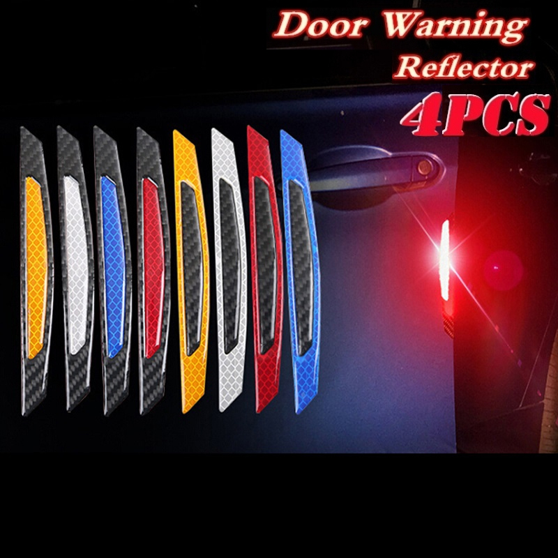 4pcs//set Car OPEN Reflective Tapes Warning Mark Exterior Car Door Stickers Heiß