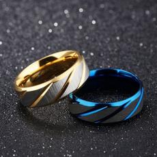 Couple Rings, Blues, titanium steel, Jewelry