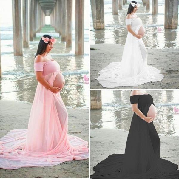 Maternity Dresses, slit, pregnant, Patchwork