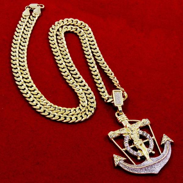 necklacesamppendant, Stud, Chain, Cross Pendant
