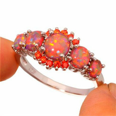 fireopalring, Sterling, DIAMOND, Jewelry