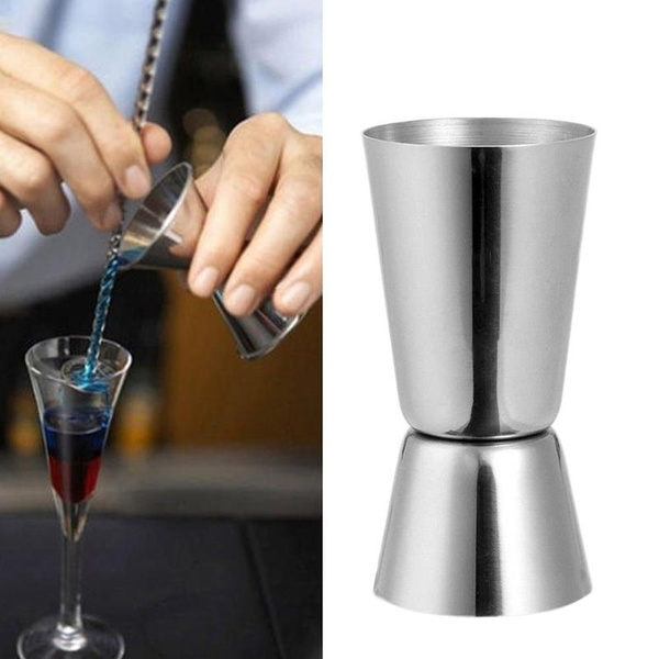 30//60ml Cocktail Shaker Double Single Shot Jigger Measuring Cup Bar Wine Party