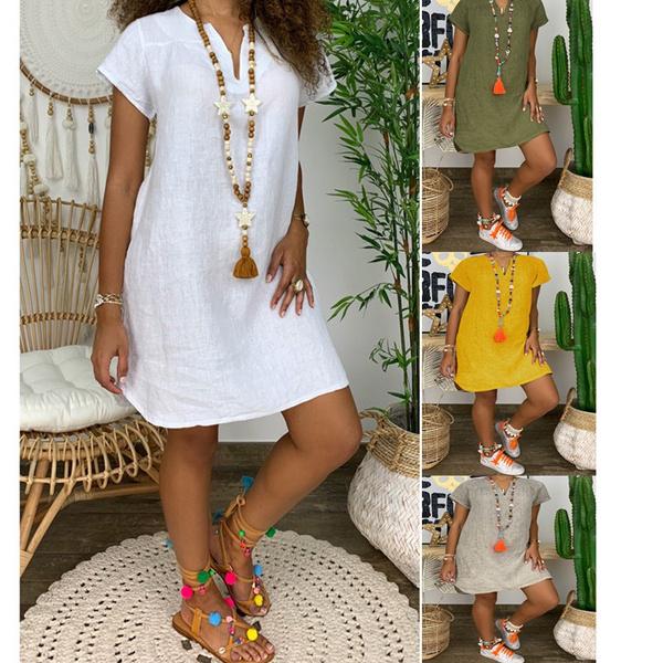 Summer, short sleeve dress, Dress, short sleeves