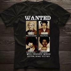 Fashion, Cotton T Shirt, wanted!, harriettubman